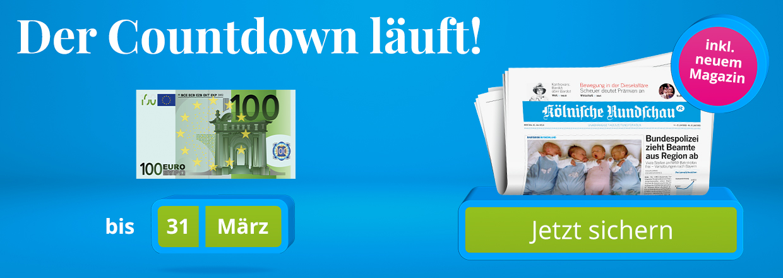 Rundschau 24 Monate lesen und 100 € Bonus sichern