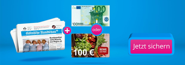 Rundschau Zeitungsabo + 100 € Bargeld oder Gutschein